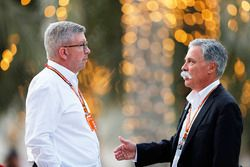 Ross Brawn, Managing Director of Motorsports, FOM, and Chase Carey, Chairman, Formula One