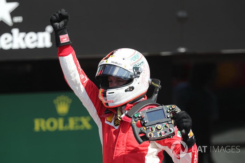 3º Sebastian Vettel (52 victorias)