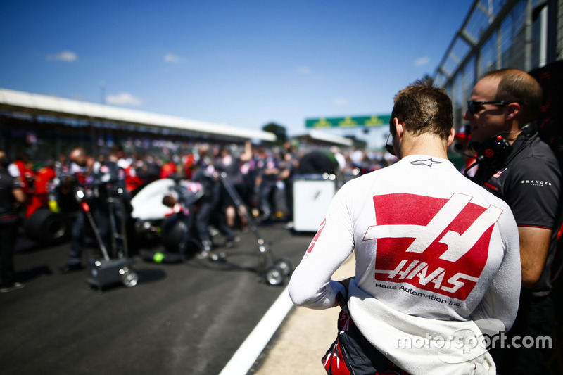 Abandon : Romain Grosjean (Haas F1)