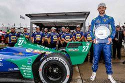 Alexander Rossi, Andretti Autosport Honda fête le Verizon P1 Pole Award pour la Course 2