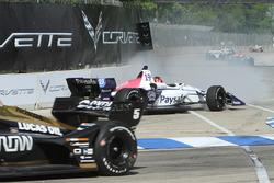 Santino Ferrucci, Dale Coyne Racing Honda crash