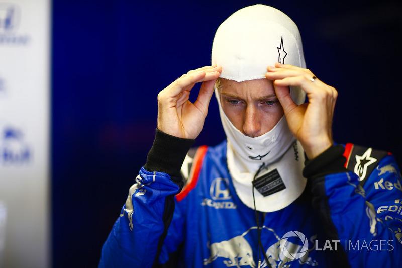 Brendon Hartley, Toro Rosso, ajuste sa cagoule