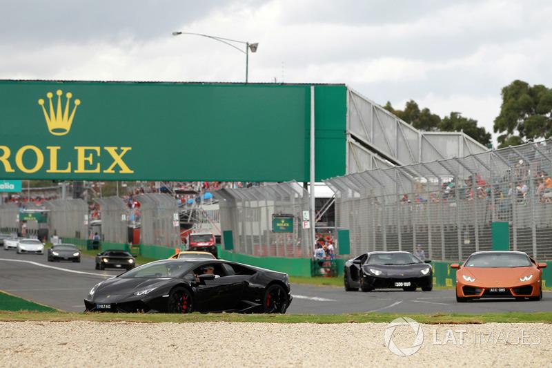 Lamborghini Parade At Australian Gp Formula 1 Photos