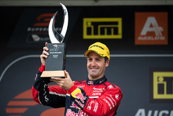 Podium: race winner Jamie Whincup, Triple Eight Race Engineering Holden