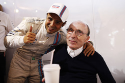 Felipe Massa, Williams F1, fête la pole avec Sir Frank Williams, Team Principal Williams F1