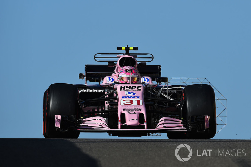 Esteban Ocon, Sahara Force India VJM10 with aero sensor