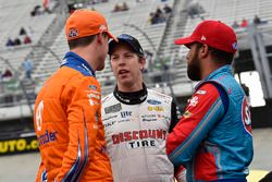 Joey Logano, Team Penske, Ford Fusion Autotrader, Brad Keselowski, Team Penske, Ford Fusion Discount Tire and Darrell Wallace Jr., Richard Petty Motorsports, Chevrolet STP