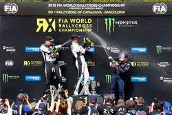 Johan Kristoffersson, PSRX Volkswagen Sweden, Mattias Ekström, EKS Audi Sport, Sébastien Loeb, Team Peugeot Total