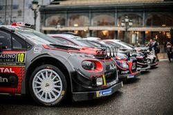 La photo de famille des voitures WRC 2018