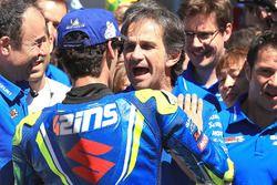 Alex Rins, Team Suzuki MotoGP, Davide Brivio, Team manager Team Suzuki MotoGP