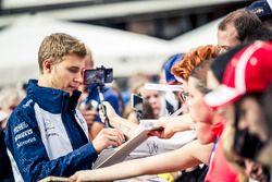 Sergey Sirotkin, Williams, firma autografi ai tifosi