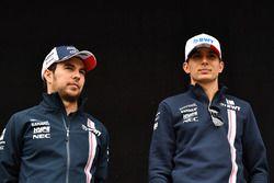 Sergio Perez, Force India et Esteban Ocon, Force India F1