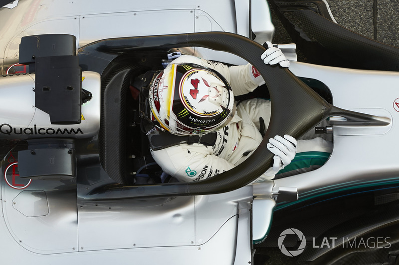 Lewis Hamilton, Mercedes AMG F1, climbs out of his car