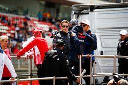 Kimi Raikkonen, Ferrari, Marcus Ericsson, Sauber, Lewis Hamilton, Mercedes AMG F1, Stoffel Vandoorne, McLaren, Max Verstappen, Red Bull Racing, Pierre Gasly, Toro Rosso, en Valtteri Bottas, Mercedes AMG F1
