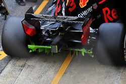 Red Bull Racing RB14 diffuser achter, aero paint
