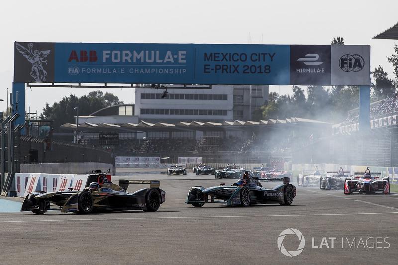 Andre Lotterer, Techeetah, Mitch Evans, Jaguar Racing