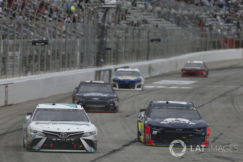 Gray Gaulding, BK Racing Toyota Camry Alex Bowman, Hendrick Motorsports, Axalta Chevrolet Camaro