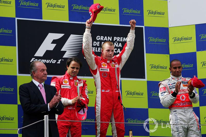2008: 1. Kimi Raikkonen, 2. Felipe Massa, 3. Lewis Hamilton
