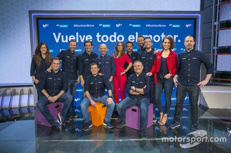 El equipo de F1 de Movistar