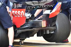 Detalle del difusor trasero Red Bull Racing RB14