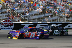 Denny Hamlin, Joe Gibbs Racing Toyota and Reed Sorenson, Premium Motorsports Chevrolet