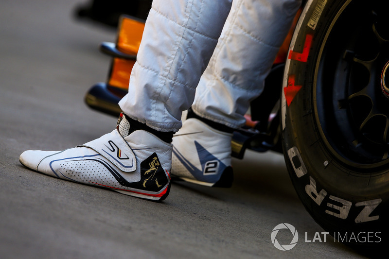 Las botas de Stoffel Vandoorne, McLaren