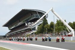 Marc Marquez, Repsol Honda Team, Jorge Lorenzo, Ducati Team, race start