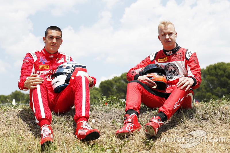 Les vainqueurs de Barcelone : Giuliano Alesi et Nikita Mazepin