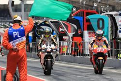 Карел Абрагам, Angel Nieto Team, и Марк Маркес, Repsol Honda Team