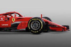 Ferrari SF71H detalle del frente