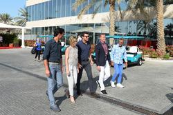 Mark Webber, Susie Wolff, Steve Jones, C4 F1, David Coulthard, Commentatore Channel Four TV ed Eddie Jordan, Channel 4 F1 TV