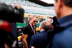 Acteur Daniel Craig met Jean Todt, President, FIA