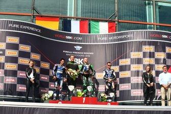 Isaac Vinales, Kallio Racing,Lucas Mahias, Kawasaki Puccetti Racing, Ayrton Badovini, Pedercini Racing