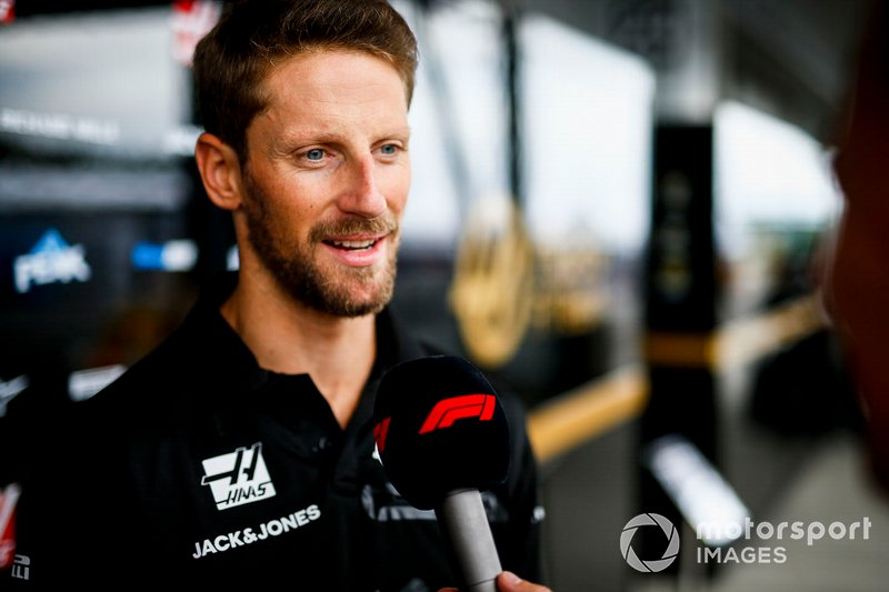Romain Grosjean, Haas F1 speaks to the media