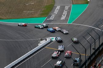Start action, René Rast, Audi Sport Team Rosberg, Audi RS 5 DTM leads
