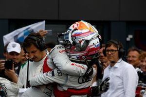 1. Mike Rockenfeller, Audi Sport Team Phoenix, 3. Nico Müller, Audi Sport Team Abt Sportsline