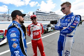 Ricky Stenhouse Jr., Roush Fenway Racing, Ford Mustang Fastenal, Austin Dillon, Richard Childress Racing, Chevrolet Camaro AAA and Matt Tifft, Front Row Motorsports, Ford Mustang Delaware Lottery/Surface