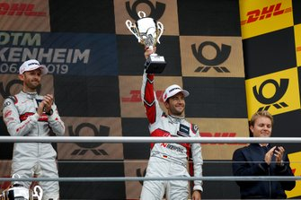 Podium: third place Mike Rockenfeller, Audi Sport Team Phoenix