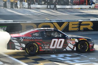 Cole Custer, Stewart-Haas Racing, Ford Mustang Production Alliance Group celebrates his win