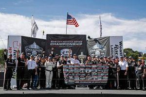 Josef Newgarden, Team Penske Chevrolet and team celebrate winning the championship