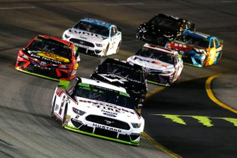 Brad Keselowski, Team Penske, Ford Mustang Discount Tire and Spencer Boyd, Rick Ware Racing, Chevrolet Camaro AQRE.app
