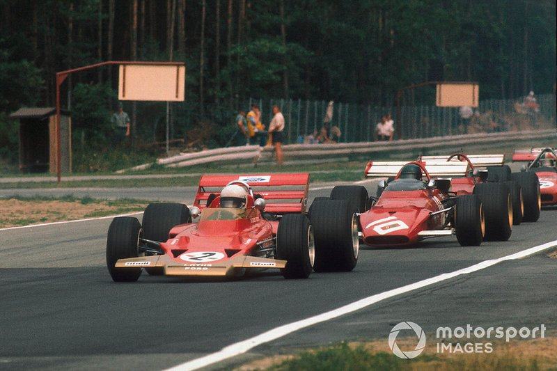 Jochen Rindt, Lotus 72C, Jacky Ickx, Ferrari 312B, Clay Regazzoni, Ferrari 312B, Chris Amon, March 701