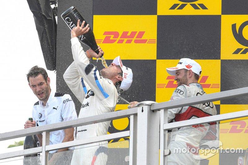 Podium, Bruno Spengler, BMW Team RMG, Jamie Green, Audi Sport Team Rosberg
