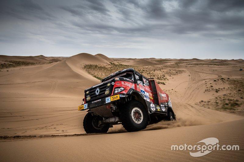 Martin van der Brink, Vauter de Graff y Mitchell van der Brink, Mammoet Rallysport, Renault CBH 385
