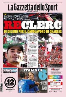 Imprensa Italiana destaca Charles Leclerc e questiona Sebastian Vettel - La Gazzetta dello Sport
