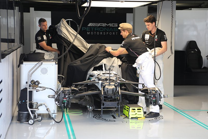 Mercedes AMG W10 in the garage