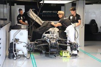 Mercedes AMG W10 in the garage