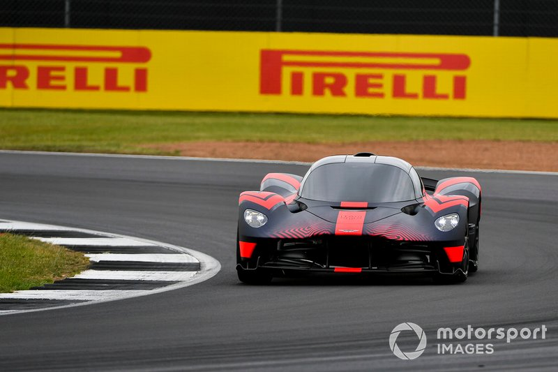 An Aston Martin Valkyrie drives some laps