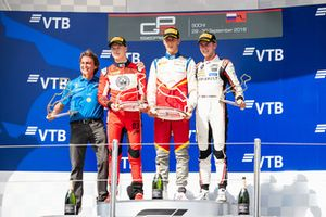 Podium: race winner Leonardo Pulcini, Campos Racing, second place Nikita Mazepin, ART Grand Prix, third place Anthoine Hubert, ART Grand Prix, Adrian Campos