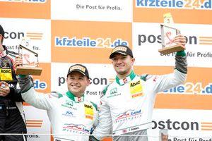 Podium: third place #29 Montaplast by Land-Motorsport Audi R8 LMS: Jake Dennis, Christopher Mies